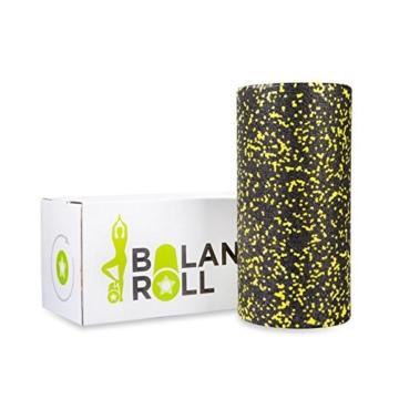 Balance Roll das Original - Made in Germany - Faszienrolle - Blackroll alternative (Schwarz Gelb (Soft)) -