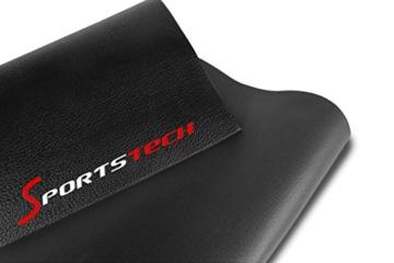 Bodenschutzmatte 2000x1000x6 mm für Fitnessgeräte Heimtrainer - Sport Multifunktionsmatte Unterlegmatte schwarz Floor Protector -