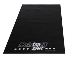 Christopeit Bodenschutzmatte, schwarz, 160 x 84 x 0.3 cm, 1399 -