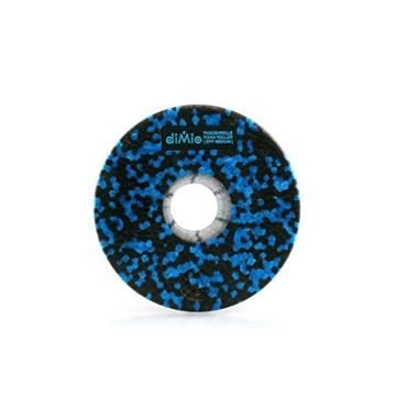 diMio Faszienrolle zur Selbstmassage (Schwarz/Blau, 29.5cm [MEDIUM]) -