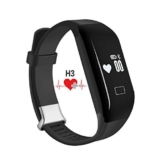 PADGENE® Pulsuhr Fitnessarmband H3 Aktivitätstracker Uhrenarmband mit Herzfrequenzüberwachung Schrittzähler, Pedometer, Sedentary / Anruf / Nachricht Erinnerung, Schlaf-Tracker Synchronisierung mit Android 4.3 oder höher und iPhone 6S / 6 / 5S / 4S Smartphone (Nicht medizinische Ausstattung) (Schwarz) -