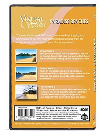 Virtuelle Spaziergänge - Paradiesische Strände für Innen-Walking, Laufband und Radfahren -